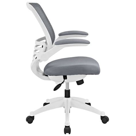 modway edge mesh office chair in gray eei 596 gry