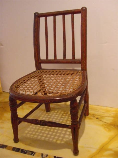 vintage chair with wicker seat antique doll for sale