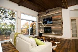 Mur Interieur En Bois De Coffrage : mur en bois de palette pour salon 20 mani res de l ~ Premium-room.com Idées de Décoration