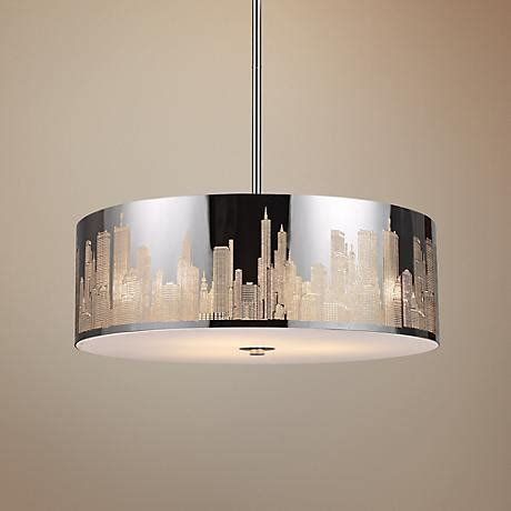skyline 5 light 24 quot wide stainless steel pendant light