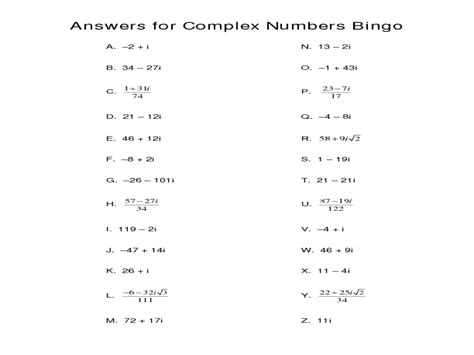 simplifying imaginary numbers worksheet worksheets for all