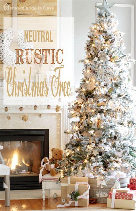natural rustic christmas tree remodelando la casa
