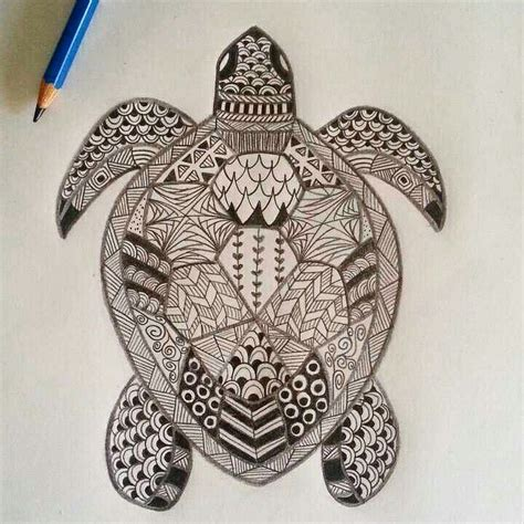 mandala turtle ideas  pinterest adult