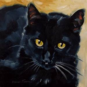 Paintings From the Parlor: Black Cat Original Oil Painting