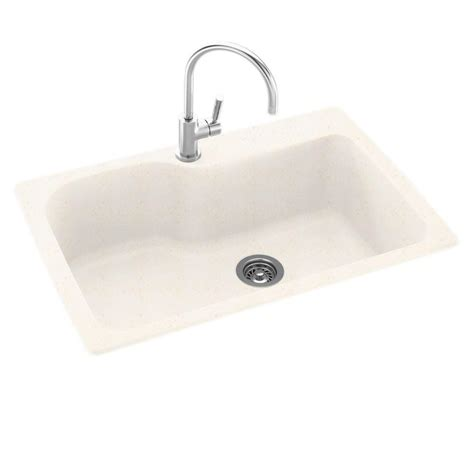composite kitchen sinks swanstone dual mount composite 33 in 1 single bowl