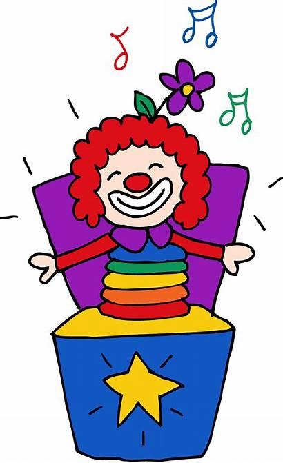 Jack Box Clipart Clip Toy Toys Clown