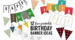 Free Printable Birthday Banner Ideas - Paper Trail Design