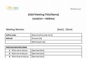 meeting minutes template free printable formats for word With minute formats templates