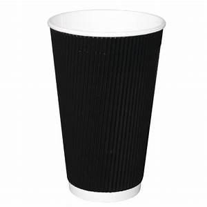 Fiesta, Ripple, Wall, Takeaway, Coffee, Cups, Black, 455ml, 16oz, -, P, Cm542