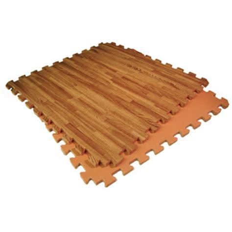 interlocking foam flooring woodfoam mats wood grain design in a reversible foam mat