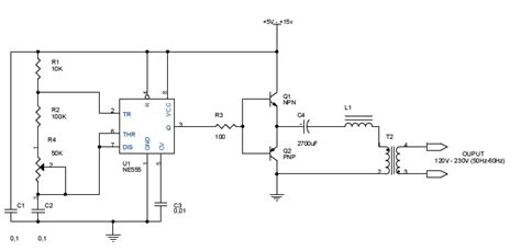 Inverter With Circuit Diagram Electronic