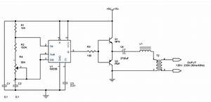 Dc To Ac Inverter With 555 Circuit Diagram