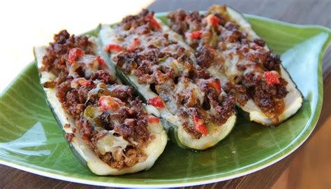Taco Courgette Boats by Pinterest Recipe Review Stuffed Banana Peppers