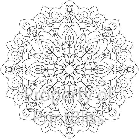 10 Flower Mandala printable coloring page Mandala