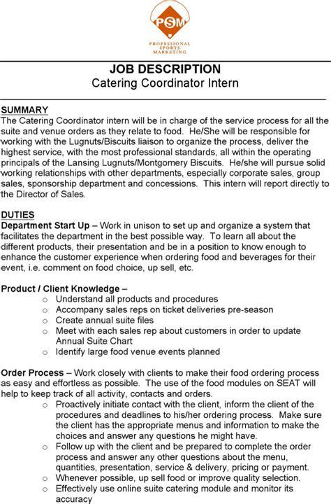 catering resume templates free premium