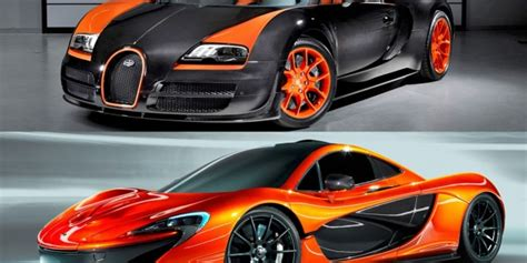 Mclaren P1 Square Off With A Bugatti Veyron