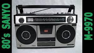 80 U0026 39 S Sanyo Fm  Am Stereo Cassette Recorder M9970 Boombox