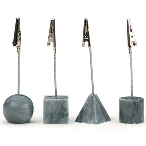 Marble Place Card Holders in Table Accessories