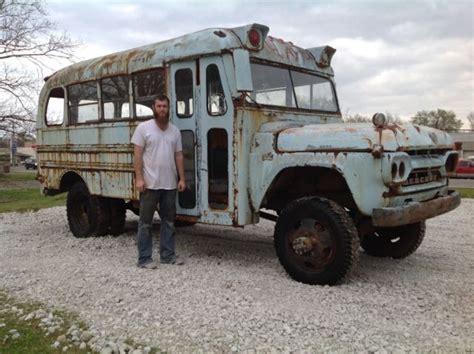 1960 napco mercury school rat rod 4x4 food truck patina classic mercury