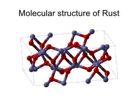 rust structure molecular compound experiment brown
