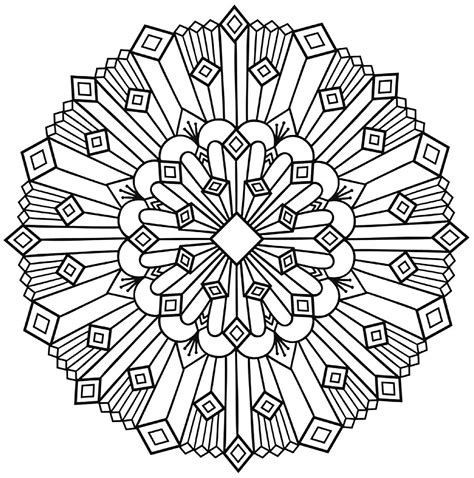 mandala art deco simple malas adult coloring pages