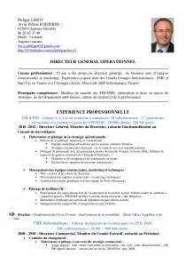 Un Modèle De Cv En Francais by Cv Directeur G 233 N 233 Ral Op 233 Rationnel Dhia V0 Cv