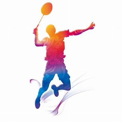Badminton Motion Graphics Clipart Creative Players Background