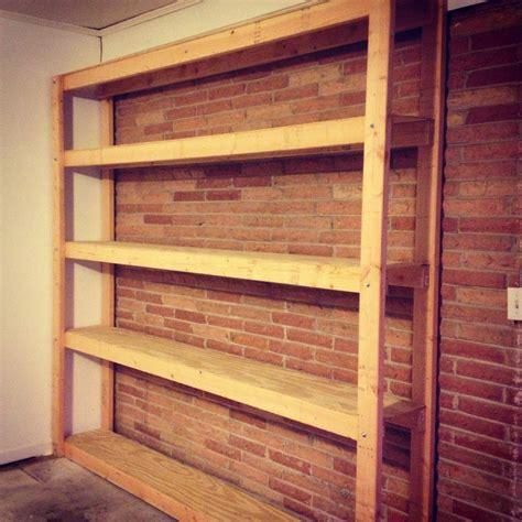 Shelving Your Garage by How To Build Shelves For Your Garage For Pennies