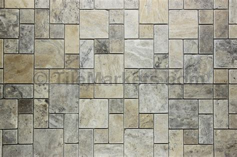 Travertine Silver Roman Pattern   TileMarkets®