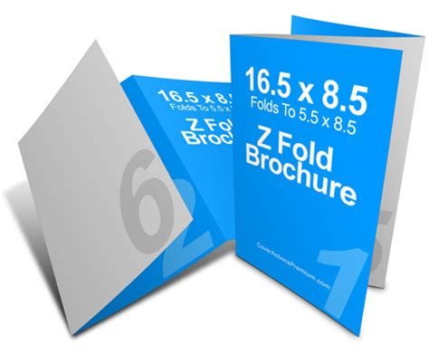 8 5 X 5 5 Accordion Fold Brochure Template 16 5 X 8 5 3 Panel Z Fold Brochure Cover Actions Premium