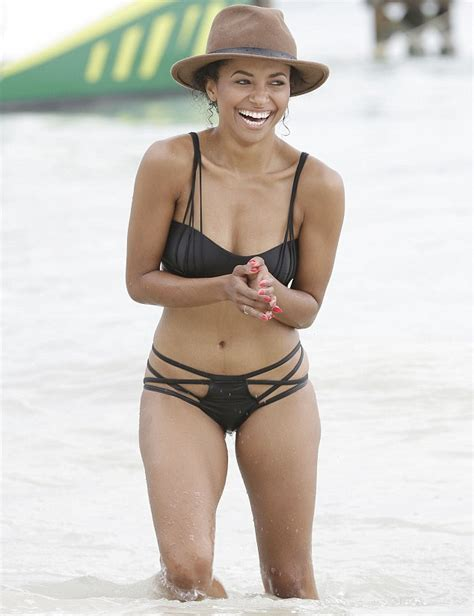 kat graham bikini vire diaries star kat graham on the beach in a tiny