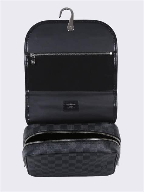 louis vuitton hanging toiletry kit damier graphite canvas luxury bags