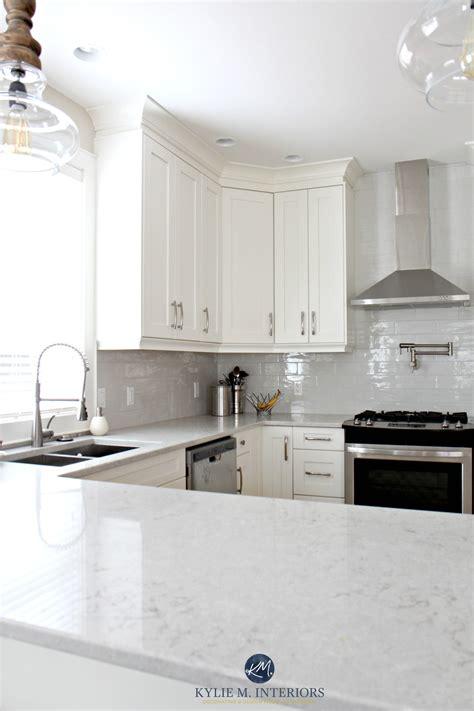 Low Contrast White Kitchen With Bianco Drift Quartz