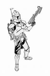 Clone Coloring Wars Star Rex Captain Commander Coloriage Dessin Trooper Colouring Cody Troopers Clones Colorear Fox Azcoloring Coloriages Drawings Idee sketch template