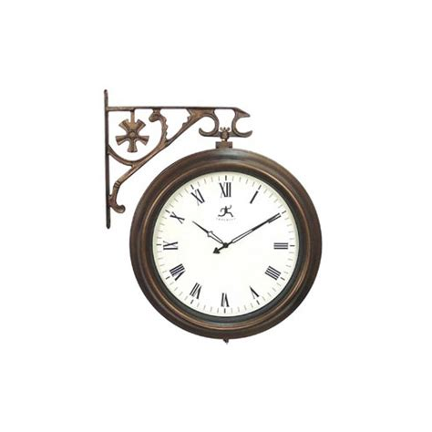 hanging double sided clock  wall clocks