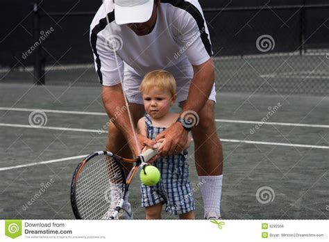 beginner tennis lesson royalty  stock image image