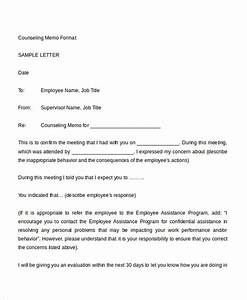 magnificent counseling memo template contemporary With counseling memo template