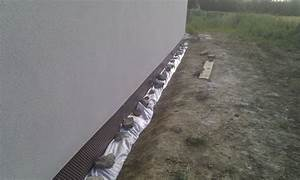 ma maison bioclimatique drain et passage de garage gravier With gravier autour de la maison