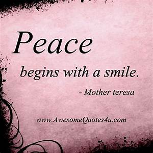 Pin by Colleen ... Peace And Smile Quotes