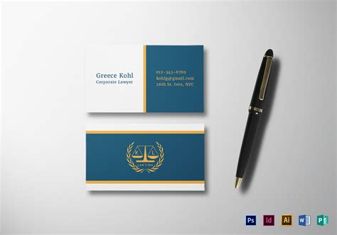 lawyer business card design template  psd word