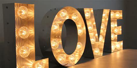 'love' Fairground Light Bulb Letters