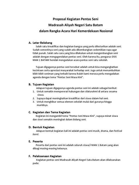 Proposal bazar ramadhan pemkab lampg utara 1433 hfull description. Contoh Proposal Kegiatan Pentas Seni Dan Bazar Di Sekolah - hidup