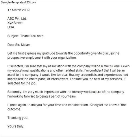 Great Second Interview Thank You Letter  Letter Format Writing