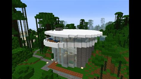 minecraft organic  modern lakebeach house  tutorial   build futuristic youtube