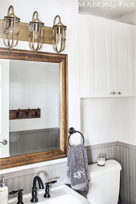 bathroom wainscoting ideas rustic chic half bath maison de pax