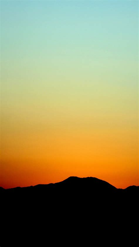 sunset sky minimal nature red android wallpaper android