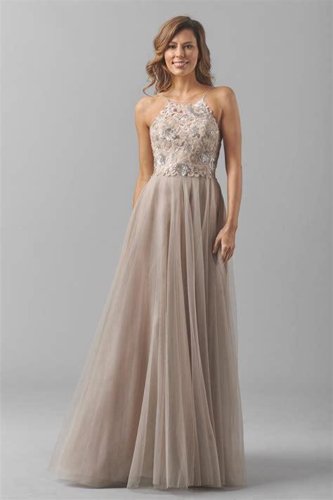 watters 8356i carly bridesmaid dress bobbinet halter neck