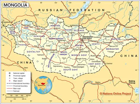 political map  mongolia nations  project