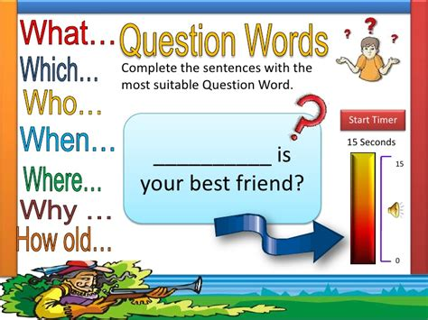 Question Words Excersices Ppt