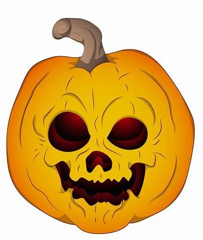 Pumpkin Halloween Clipart Clip Evil Scary Cartoon